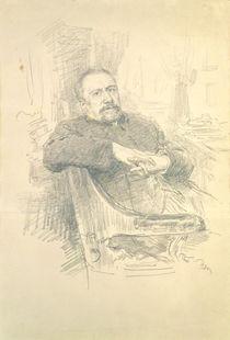 Portrait of Nikolaj Leskov von Ilya Efimovich Repin