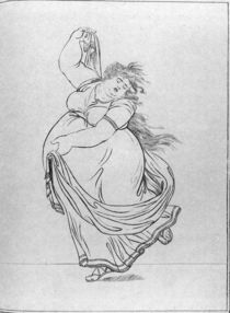 The Muse of Dance, Plate VI from a new edition considerably enlarged von Frederich Rehberg