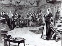 Trial of Mary Queen of Scots in Fotheringhay Castle von Edouard Berveiller