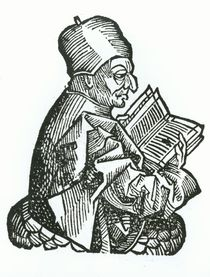 St. Bede from 'Liber Chronicarum' by Hartmann Schedel 1493 by German School