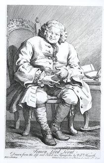 Portrait of Simon Fraser, Lord Lovat 25 August 1746 von William Hogarth