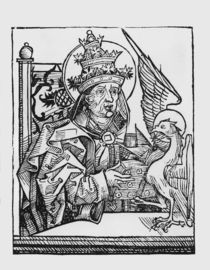 St. Gregory the Great from 'Liber Chronicarum' by Hartmann Schedel 1493 by German School