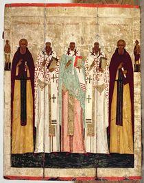 St. Sergius of Radonesh with the Saints of Rostov von Russian School