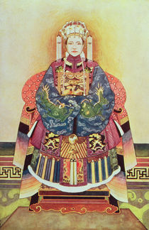 Portrait of Tzu Hsi, the Empress Dowager by Chinese School