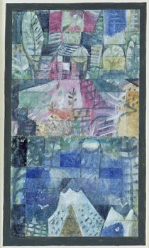 Souvenir picture of a trip von Paul Klee
