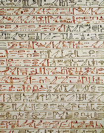 Detail from 'The Book of the Dead' by Egyptian 18th Dynasty