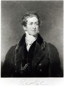 Portrait of Sir Robert Peel engraved by C. Turner von Thomas Lawrence