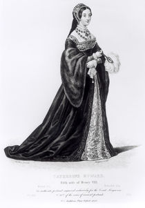 Portrait of Catherine Howard engraved by Hargrave von English School
