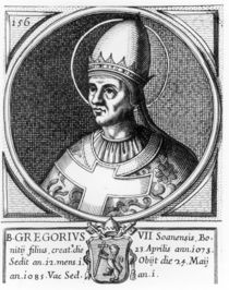 Portrait of Pope Gregory VII by English School