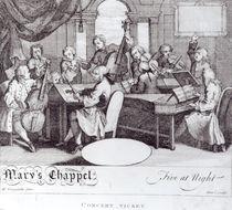 Concert Ticket for Mary's Chapel von William Hogarth