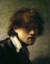 Head of a Young Man or Self Portrait by Rembrandt Harmenszoon van Rijn