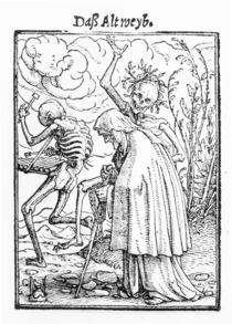 Death and the Old Woman, from 'The Dance of Death' von Hans Holbein the Younger