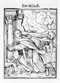 Death and the Mendicant Friar von Hans Holbein the Younger