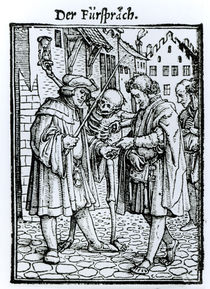 Death and the Barrister, from 'The Dance of Death' von Hans Holbein the Younger