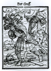 Death and the Count, from 'The Dance of Death' by Hans Holbein the Younger