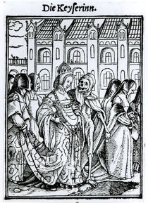 Death and the Empress, from 'The Dance of Death' von Hans Holbein the Younger