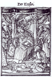 Death and the Emperor, from 'The Dance of Death' by Hans Holbein the Younger