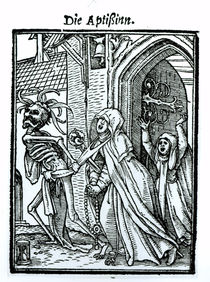 Death and the Abbotess, from 'The Dance of Death' von Hans Holbein the Younger