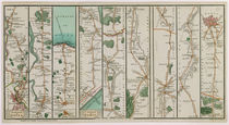 A New Plan of the Road from London to Dover and from Calais to Paris von C. A. Smith
