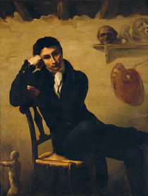 Portrait of an Artist in his Studio by Theodore Gericault