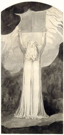 Moses Receiving the Law, c.1780 von William Blake