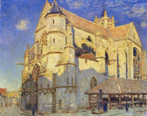 The Church at Moret, Frosty Weather von Alfred Sisley