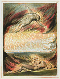 'Then the Divine Hand...', plate 35 from 'Jerusalem' 1804-20 by William Blake