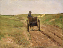 Cart in Katwijk, 1889 by Max Liebermann