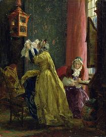 In the Boudoir, 1851 von Adolph Friedrich Erdmann von Menzel