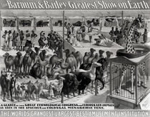 Poster advertising, 'The Barnum and Bailey Greatest Show on Earth by American School