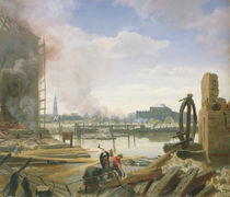 Hamburg After the Fire, 1842 by Jacob Gensler