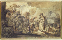 Eliezer and Rebecca at the Well by Abraham Furnerius