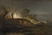 A Lime Kiln at Coalbrookdale by Joseph Mallord William Turner
