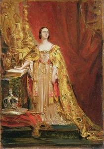 Queen Victoria Taking the Coronation Oath von George Hayter