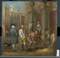 Sign for a Paviour, c.1725 by William Hogarth
