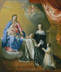 The Virgin Mary gives the Crown and Sceptre to Louis XIV von Philippe de Champaigne
