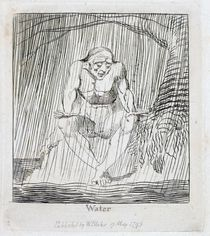 Water, plate 4 from 'For Children. Gates of Paradise' von William Blake