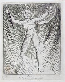 Fire, plate 7 from 'For Children. The Gates of Paradise' by William Blake