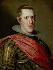 Portrait of Philip IV in Armour von Diego Rodriguez de Silva y Velazquez