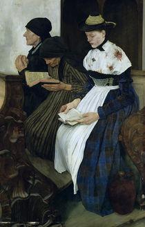 Three Women in Church, 1882 von Wilhelm Maria Hubertus Leibl