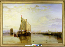 Dort or Dordrecht: The Dort Packet-Boat from Rotterdam Becalmed von Joseph Mallord William Turner