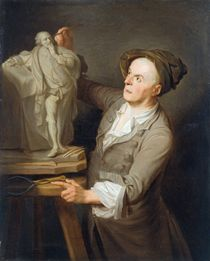 Louis-Francois Roubiliac Modelling his Monument to Shakespeare by Adrien Carpentiers