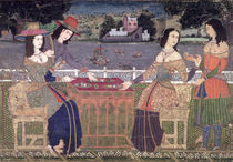 Portuguese women eating a meal von Indian School