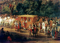 The Entry of Louis XIV and Maria Theresa into Arras von Adam Frans Van der Meulen