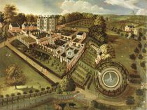 The House and Garden of Llanerch Hall by English School