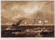 The Leader Sea Piece, engraved by Charles Turner 1859-61 by Joseph Mallord William Turner