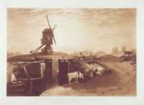 Windmill and Lock, engraved by William Say by Joseph Mallord William Turner