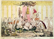 The Court at Brighton a la Chinese by George Cruikshank