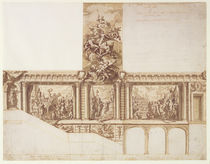 Design for Ceiling Walls and Staircase by James Thornhill
