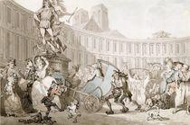 La Place des Victoires, Paris von Thomas Rowlandson